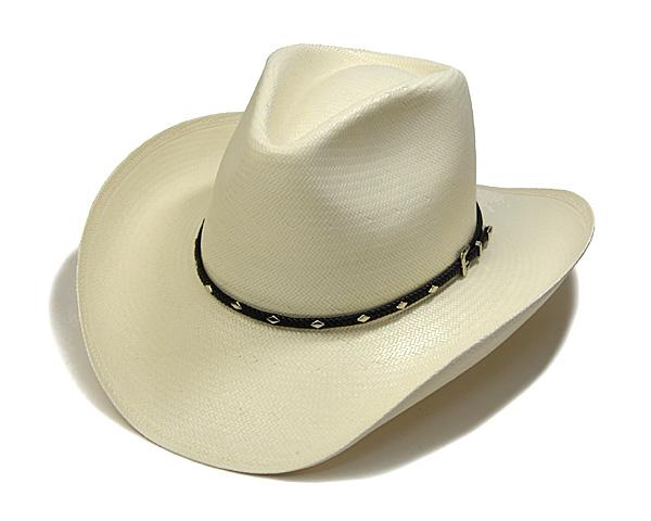 """帽子 【キャリーセールS】 アメリカ""""STETSON(ステットソン)""""ストローテンガロンハット[DIAMOND JIM ハット] 【あす楽対応】 [大きいサイズの帽子アリ][小さいサイズあり]"""