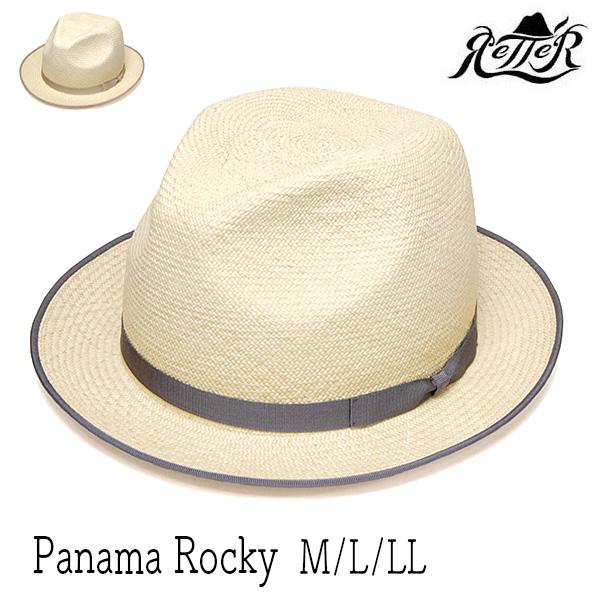 """帽子 """"Retter(レッター)"""" パナマ中折れ帽 Panama Rocky ストローハット メンズ 春夏 [大きいサイズの帽子アリ]【コンビニ受取対応商品】 アウトレットSS20"""