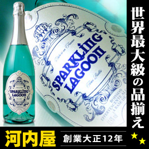 Called the blue champagne blue sparkling lagoon 750 ml blue champagne France producing sparkling wine sparkling kawahc