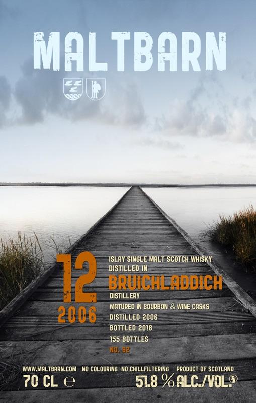 ブルイックラディ 12年 バーボン&ワインカスク 700ml 51.8度 (2006・2018)モルトバーン・ドイツ・リンブルグウイスキーフェア限定ボトル kawahc