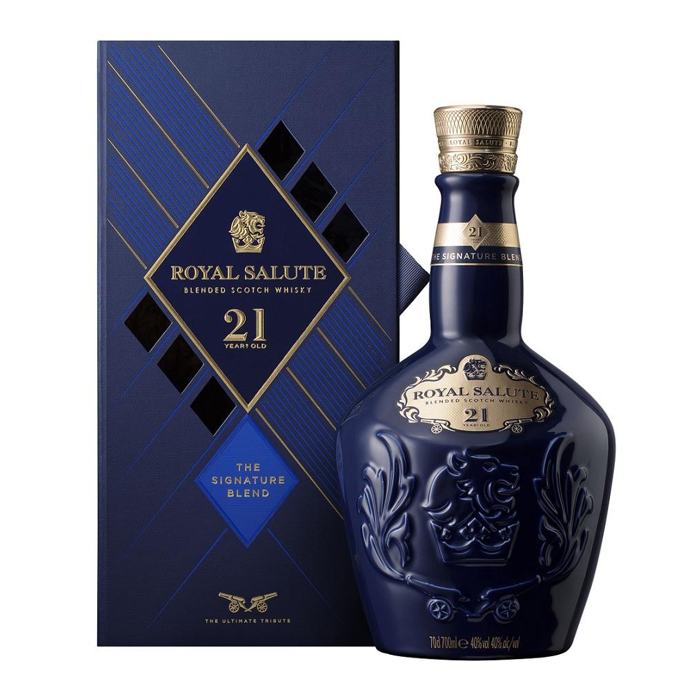 ロイヤルサルート 21年 700ml 40度 サファイヤ ブル―(青) 正規輸入品 箱付 Royal Salute 21years Blue Chivas Regal Blended Scotch Whisky シーバスリーガル最高峰ブレンデッドスコッチウイスキー kawahc