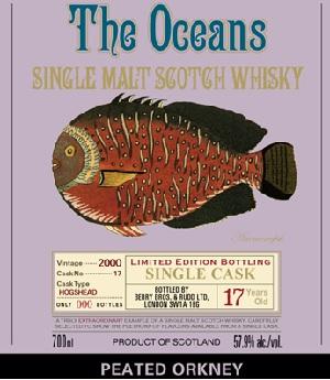 オーシャンズ ピーテッドオークニー [2000] 17年 700ml 56.9度 正規 シングルモルトウイスキー kawahc ※おひとり様1本限り。