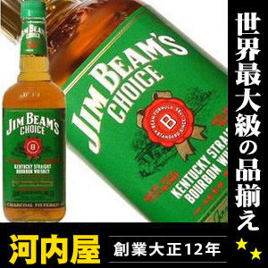 Jim beam choice 750 ml 40 times Jim beam choice Bourbon whiskey hgk kawahc