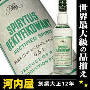 Spirytus 伏特加 500 毫升 96 度常规产品 Spirytus Rektyfikowany 波兰伏特加波尔摩士华沙) 伏特加排名 kawahc