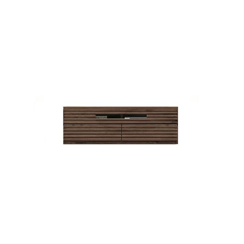 【送料無料】ドルフ リビングボード テレビボード ローボード AVボード 140 完成品 壁面収納 北欧 キャビネット リビング 扉付き 本棚 板戸 幅140cm ウォールナット 収納 木製キャビネット アンティーク ユニット家具 本 インテリア 収納 リビング収納