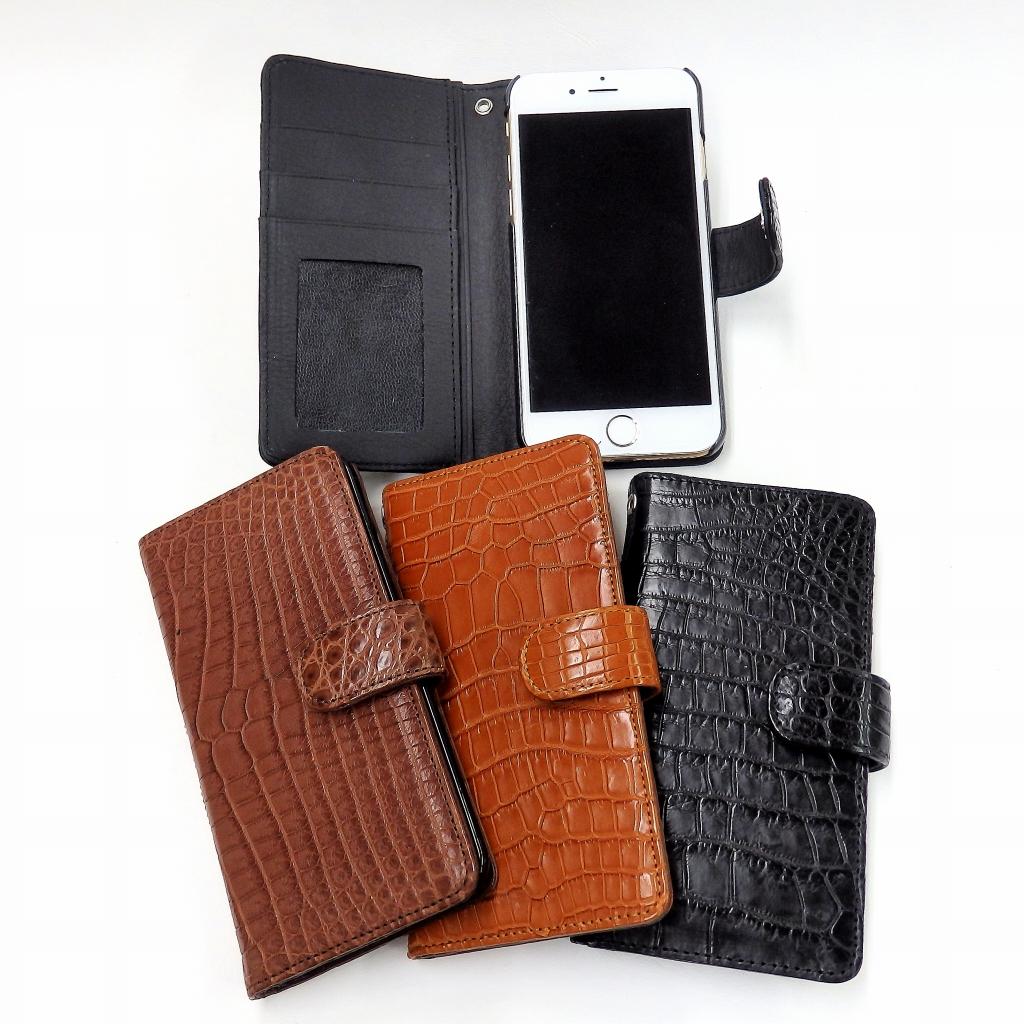[iPhone6,6s専用]クロコダイル手帳型ケース