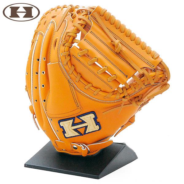 ハイゴールド 軟式 グローブ キャッチャーミット 野球 限定 NPC-270 右投げ LH ライトオレンジ