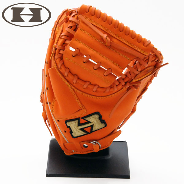 ハイゴールド 軟式 グローブ キャッチャーミット 野球 限定 オレンジ SCM-220