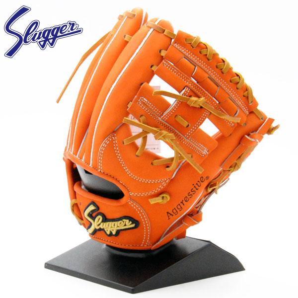久保田スラッガー 硬式 グローブ 内野 袋付 野球 セカンド ショート KSG-25PS オレンジ