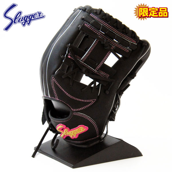 久保田スラッガー 軟式 グローブ野球 限定 内野 ソフトボール兼用 右投げ KSS-1P LT17-1 ブラック×ピンク