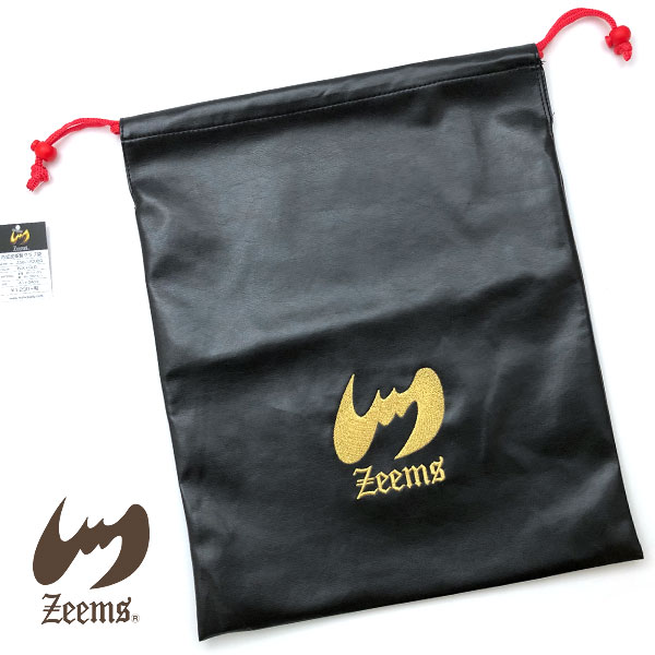 Zeems 野球 グラブ袋 合成皮革製 41×34cm ギフト プレゼント ジームス メール便対応 グローブ入れ ブラック× グローブ袋 ポイント消化 爆売りセール開催中 ゴールド 無料サンプルOK ZGB-1200BG