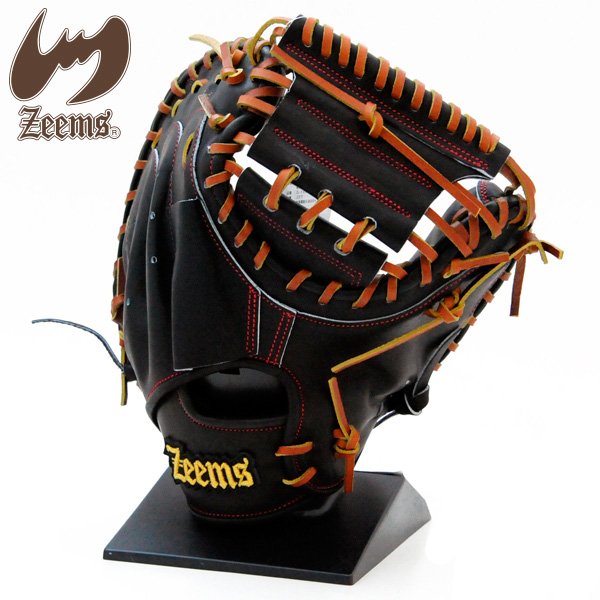 ジームス 硬式 グローブ キャッチャーミット 野球 Lバックスタイル ZL-380CM ブラック×タン
