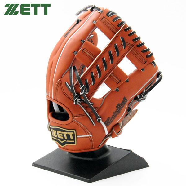 ゼット 軟式 グローブ 野球 オールラウンド M号対応 右投げ BRGB33860 ウッディブラウン×ブラック