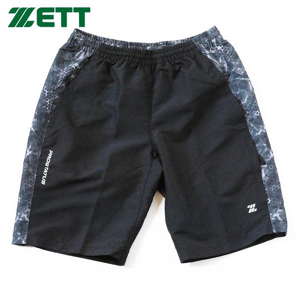 トレーニングウェア ZETT ハーフパンツ 大人 一般用 pickupb ゼット ブラック 半ズボン ウエア BOWP183HP 毎日続々入荷 野球 当店一番人気 プロステイタス