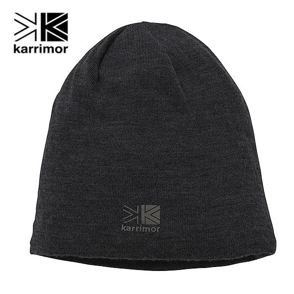 高い素材 karrimor wool beanie 防寒 カリマー アウトドア 帽子 ニット帽 メール便送料無料 ビーニー ウール ブラック 100777 低廉