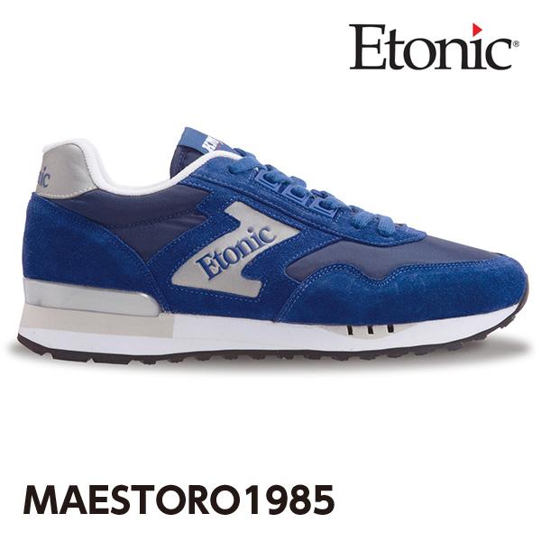 エトニック シューズ マエストロ 1985 メンズ レディース スニーカー EMLJ17-02-103 ネイビー×シルバー