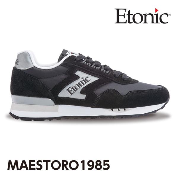 エトニック シューズ マエストロ 1985 メンズ レディース スニーカー EMLJ17-02-104 ブラック×シルバー