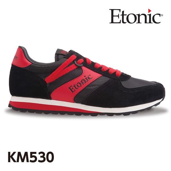 エトニック シューズ KM 530メンズ レディース スニーカー EMLJ17-05-112 ブラック×レッド