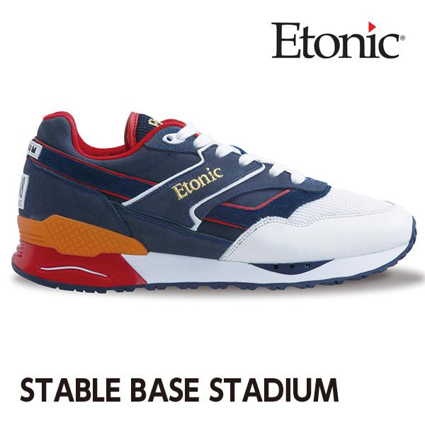 エトニック シューズ ステイブル ベース スタジアム メンズ レディース スニーカー EMLJ17-07-116 ホワイト×ネイビー×レッド
