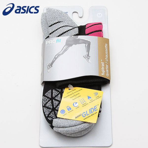 asics タイムセール 靴下 アシックス ランニング ウェア フジトレイル ソックス セール特価品 クォーター ポイント消化 ZK2654 アゼリアピンク