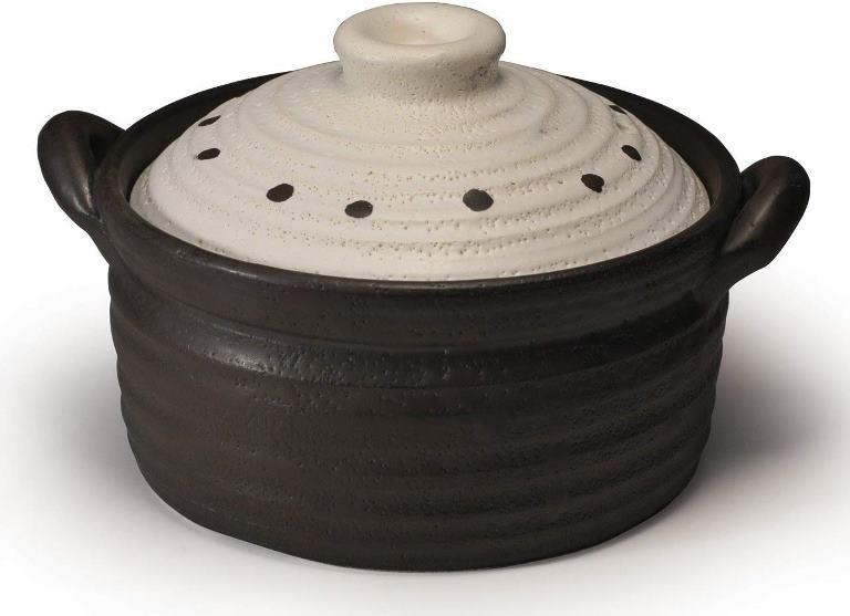 NEWメタルIH炊飯鍋ドットホワイト2合炊き