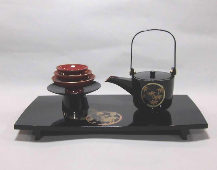 新しいコレクション 屠蘇器 黒胴張平足 金花丸, ORIGINAL PRINT CloveR 0c81d8d7