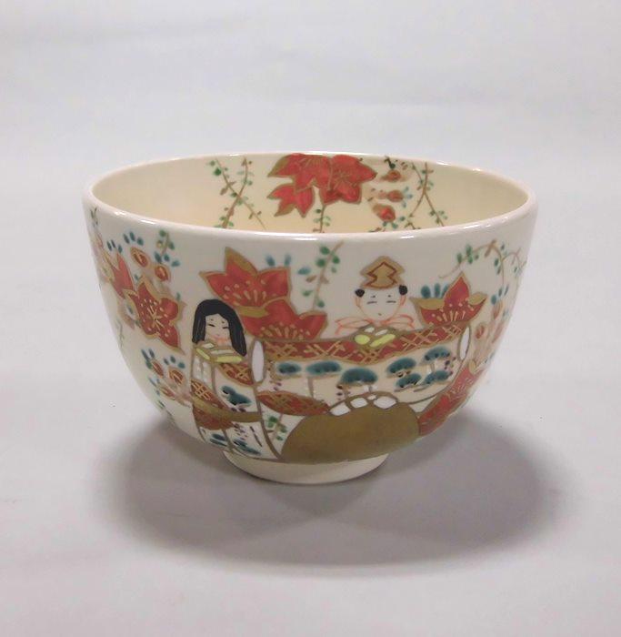 茶碗 色絵雛人形