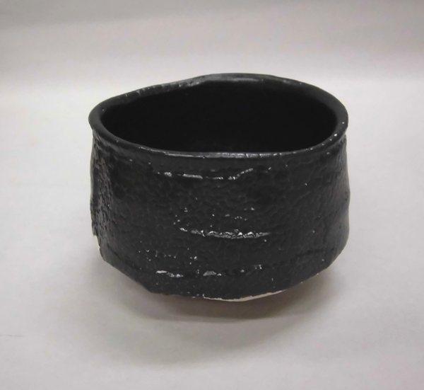 抹茶茶碗 黒織部