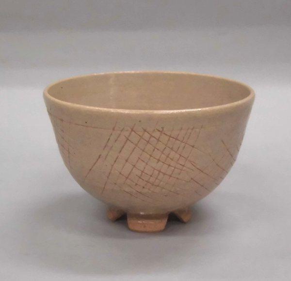 茶碗 高麗写 金海猫掻手