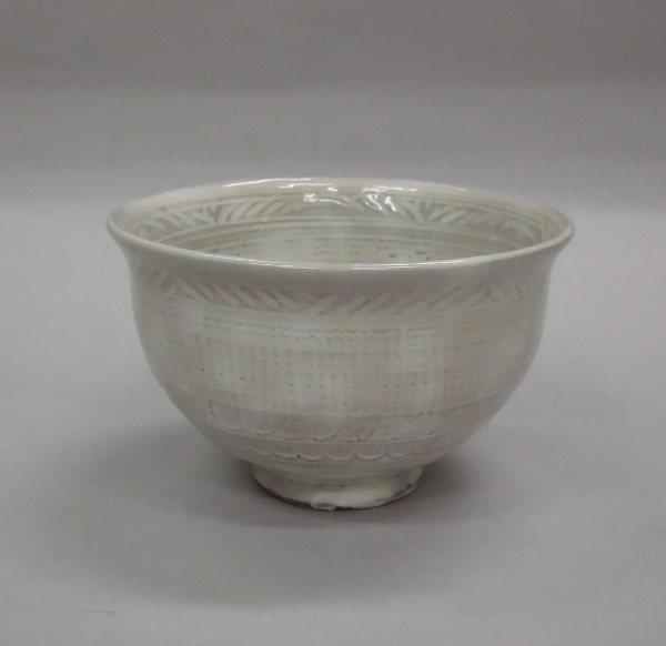 茶碗 白三島