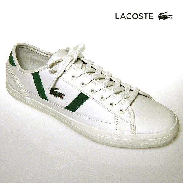ラコステ スニーカー メンズ SIDE LINE レザー サイドライン 119 3 オフホワイト/グリーン 白/緑 lacoste CMA0068-WG1 靴シューズ 送料無料 19春夏