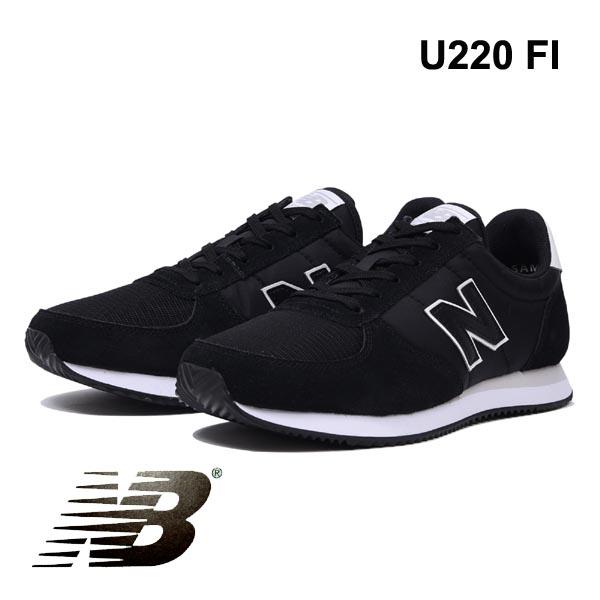 ニューバランス スニーカー レディース メンズ U220 FIブラック黒 newbalance U220FI ユニセックス
