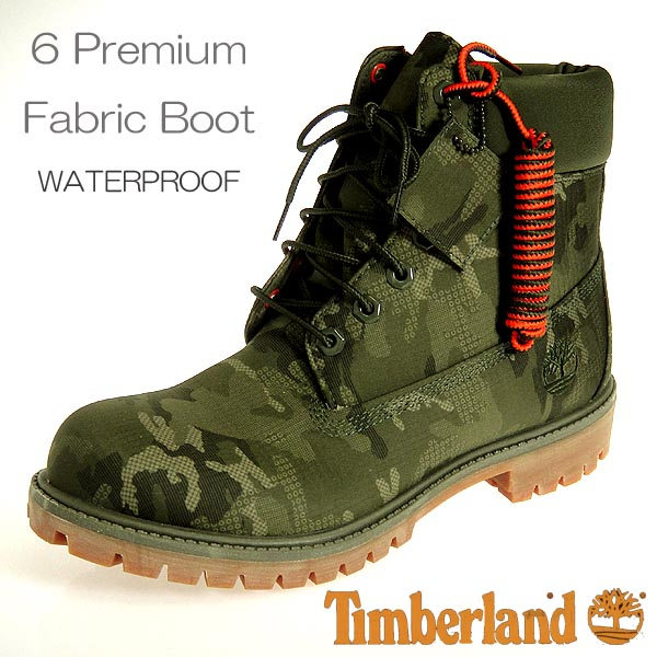 Timberland icon men boots six inch premium A1U9I DARK GREEN RIPSTOP TIMBERLAND 6premium fabric boot waterproof