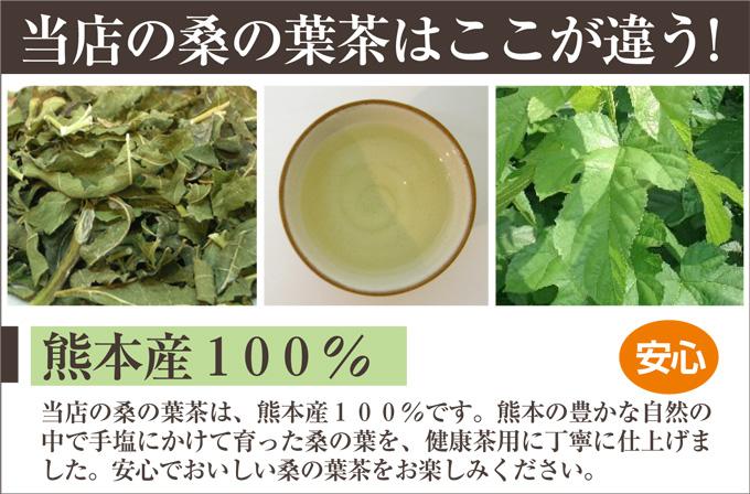 在熊本縣 100%安全 ☆ 營養桑椹葉茶美容及健康維護大量的美味桑樹葉片茶