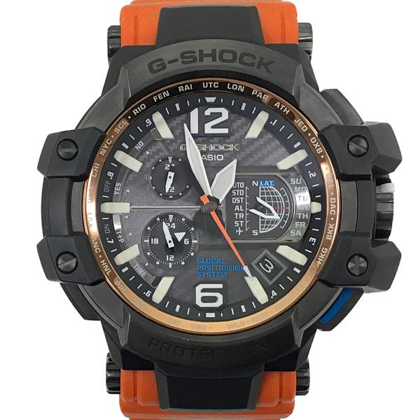 【中古】カシオ G-SHOCK グラビティマスター スカイコックピット GPW-1000-4AJF GPSハイブリッドタフソーラー電波 黒文字盤 腕時計 CASIO