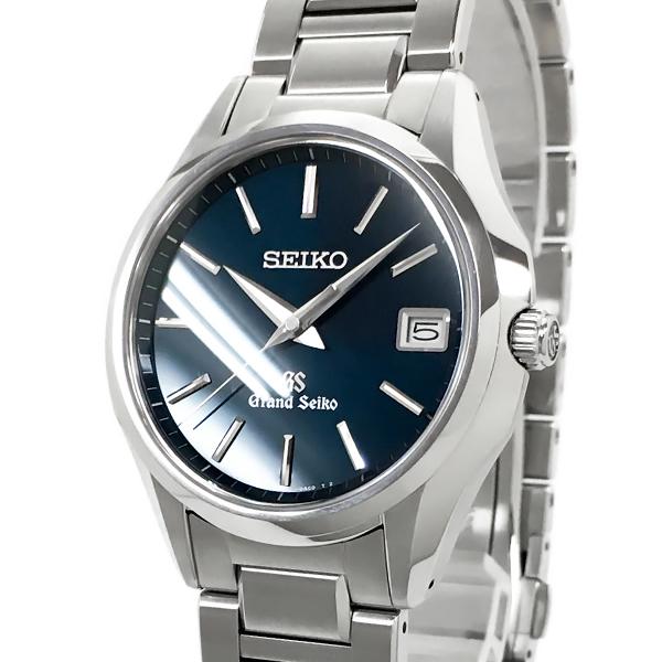 【中古】セイコー グランドセイコー ステンレススチール SBGV017 9F82-0AD0 クォーツ 青文字盤 日付表示 腕時計 SEIKO GS