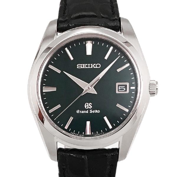 【中古】セイコー グランドセイコー ステンレススチール 腕時計 SBGX097/9F62-0AB0 クォーツ ダークグリーン文字盤 SEIKO GS