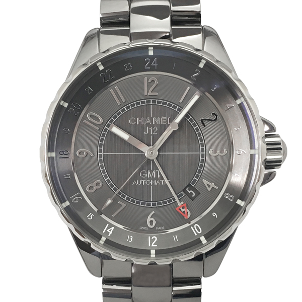 【中古】シャネル J12 クロマティック GMT チタンセラミック 腕時計 H3099 自動巻き グレー文字盤 CHANEL