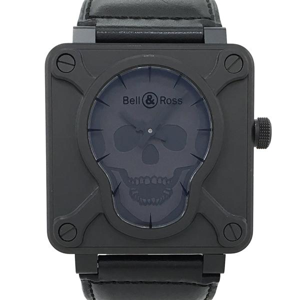 【中古】ベル&ロス エアボーン スカルフェイス 腕時計 BR01-92AIRB-CA 自動巻き 黒文字盤 ドクロ Bell&Ross 500本限定