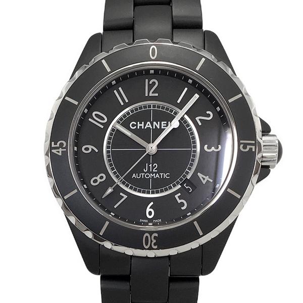 【中古】シャネル J12 マットブラック H3131 セラミック ステンレススチール 自動巻き 黒文字盤 腕時計 カレンダー CHANEL