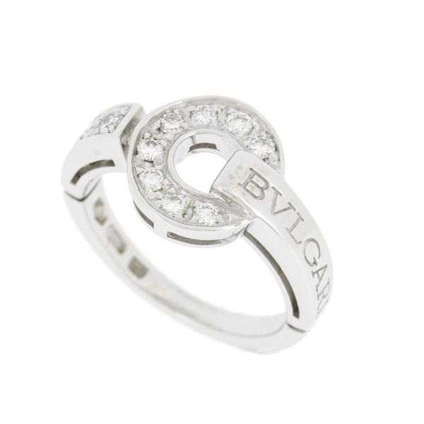 【中古】ブルガリ ブルガリブルガリ リング K18WG ホワイトゴールド ダイヤモンド 指輪 AN854619 8号 BBリング BVLGARI