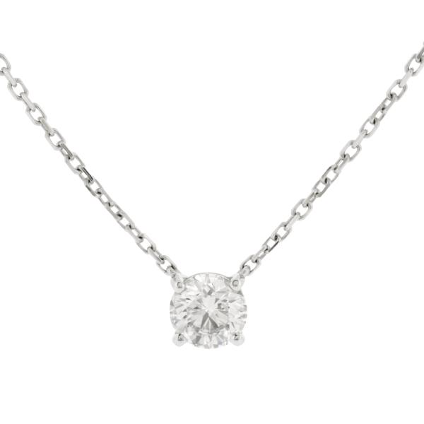 【中古】カルティエ 1895 ネックレス K18WG ホワイトゴールド ダイヤモンド ペンダント CRN7424181 39/42cm 2.2g Cartier
