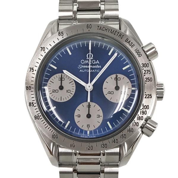 【中古】オメガ スピードマスター ステンレススチール 腕時計 3510.82 自動巻き 青文字盤 OMEGA 日本限定