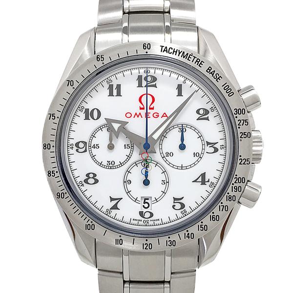 【中古】オメガ スピードマスター ブロードアロー オリンピックコレクション 腕時計 321.10.42.50.04.001 自動巻き 白文字盤 OMEGA