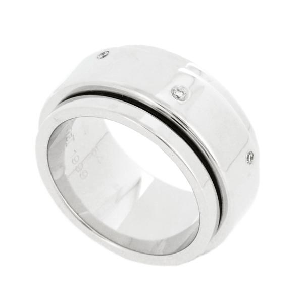 【中古】ピアジェ ポセション リング K18WG ホワイトゴールド 7Pダイヤモンド 14号 #54 17.2g 回転 指輪 PIAGET