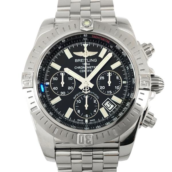 【中古】ブライトリング クロノマット44 JSP 日本限定 ステンレススチール 腕時計 AB011511 自動巻き 黒文字盤 BREITLING