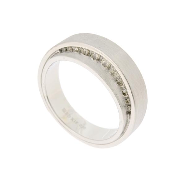 【中古】カシケイ マインリング エファッセ K18WG ホワイトゴールド ブラウンダイヤモンド 指輪 21号 12.1g KASHIKEY