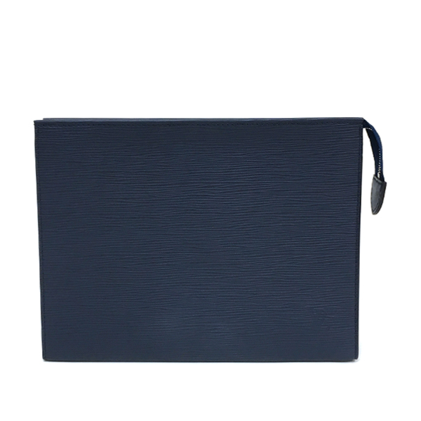 【中古】ルイヴィトン エピ ポッシュ・トワレ26 レザー 化粧ポーチ クラッチバッグ 小物入れ M41367 ネイビー ブルー LOUIS VUITTON LV