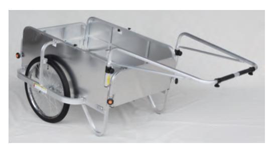 ハラックス アルミ製折畳み式リヤカー HC-906NA-4P