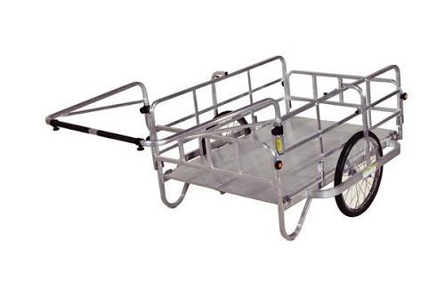 ハラックス アルミ製折畳み式リヤカー HC-1208